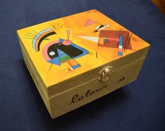Wooden box Kandinsky Black and Violet