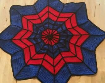 Spider-Man web blanket