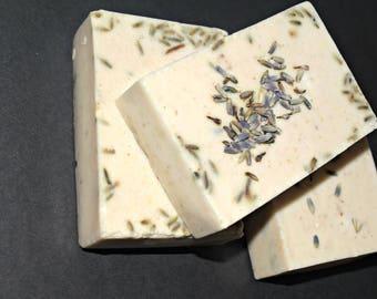 Lavender milk and honey soap bar