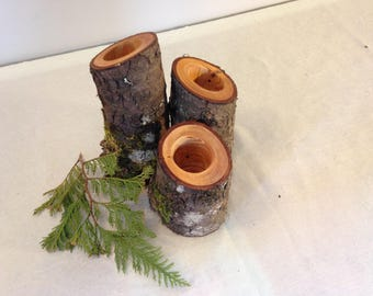 Pine Branch Candle Holder set of 3