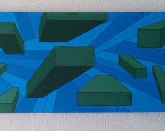 80cm x 30cm box canvas