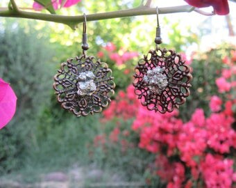 Pyrite Disc Earrings