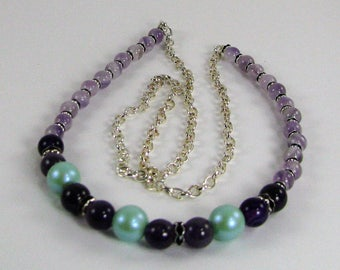 Amethyst & Chain Necklace