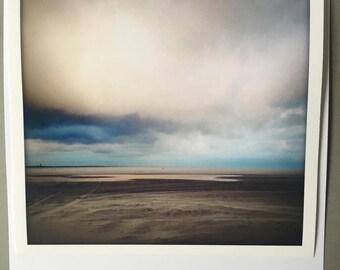 Fine art photo Comfort Beach Vlieland-Wadden-clouds-Hahnemuhle photorag