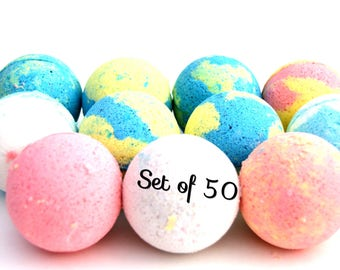 Wholesale Bath Bombs, Set of 50 Bath Bombs, 4.5 oz, Choose Your Scent, Color May Vary, Large Bath Bombs