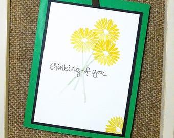 Delightful Daisy, Thinking of you homemade card.