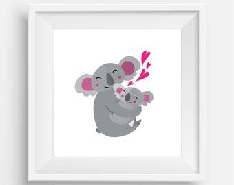 Baby Koala and Mumma