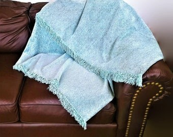 Couch throw chenille, luxury sofa cover, rich sofa throw cover, chenille fabric, many sizes, gift for mom