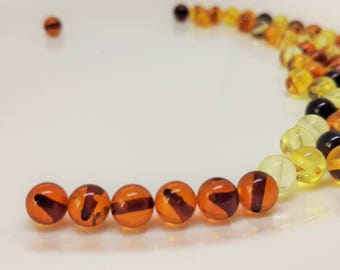 10 baltic amber beads