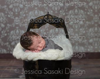 Digital background newborn composing, bucket, instant download