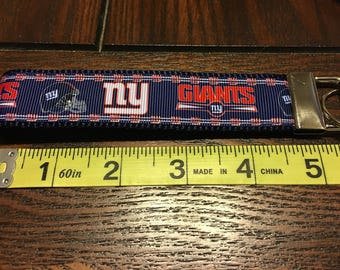 NFL New York Giants Key Chain/Fob Wristlet