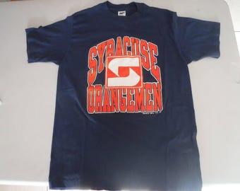 vintage Syracuse Orangemen t shirt NCAA L large