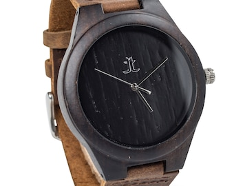 Personalized Engraved Wooden Watches for Men. Gift for Groomsmen, Husband, Boyfriend. Gift on Wedding, Anniversary, Father's Day, Graduation