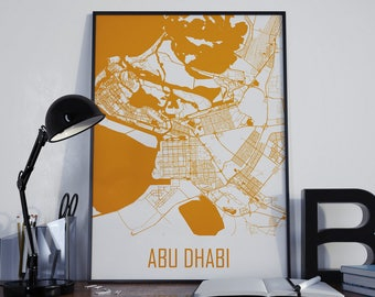 Abu Dhabi Map Abu Dhabi Street Map Abu Dhabi Map Poster Abu Dhabi Travel Map Abu Dhabi Map Photo Abu Dhabi Map Print Abu Dhabi Map Art