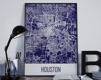 Houston street map Etsy
