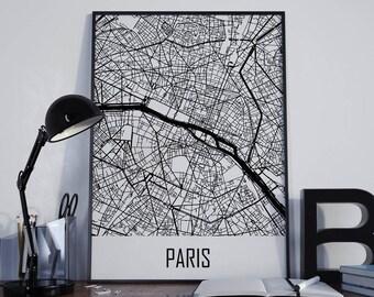 Paris Map Paris Travel Map Paris Street Map Paris City Map Paris Map Poster Paris Map Photo Paris Map Print Paris Map Art Paris Wall Art