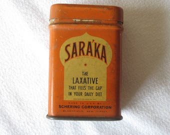Vintage Saraka Laxative Sample Tin