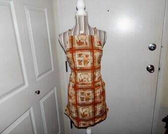Reversible work apron
