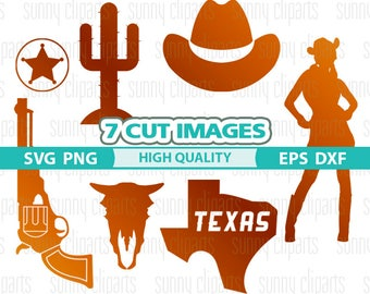 Cowboy Svg, Texas Svg File, Texas Clipart, Western Svg, Western Clipart, Cowboy Silhouette, Svg File For Cricut, Digita