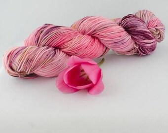 "I See Unicorns""-hand dyed wool- pinks and purple"
