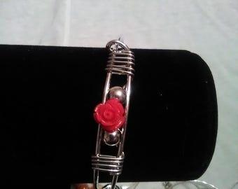 rose adjustable bangle bracelet