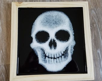 3D Resin Painting - Skull #1 - 11 x 11 Inch