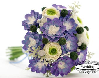 "Wedding bouquet ""Violet"" Bridal bouquet Wedding bouquet of hands Bouquet from clay"