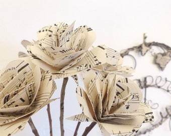 Paper roses ~ musical score