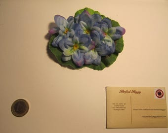 Blue hair flower clip