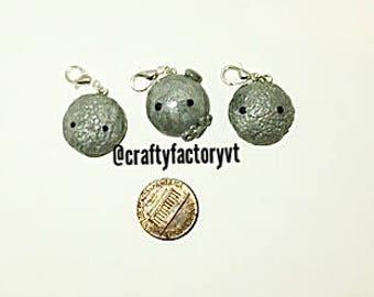 Polymer Clay Kawaii Moon Charms (Three Styles)