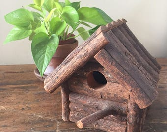 Antique cedar handmade craftsman Birdhouse