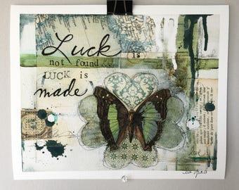 Luck is Made - Textured Fine Art Giclée