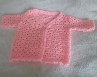 Handmade Crochet Lacy Baby Cardigan