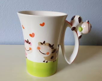 Idra Cow mug hand painted