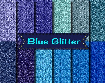 Blue Glitter papers scrapbooking background wedding party invitations gift Frozen 12x12""