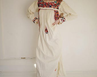 Vintage Mexican Embroidered Maxi