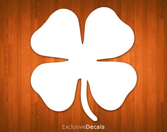 CLOVER DECAL, four leaf clover, four leaf clover decal, four leaf clover sticker, lucky charm, positive stickers, st patricks day, decal