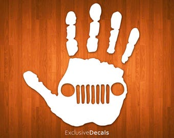JEEP WAVE DECAL, jeep sticker, jeep decal yeti, car decal jeep, wrangler decal, jeep wrangler decal, jeep wrangler accessories, jeep wave