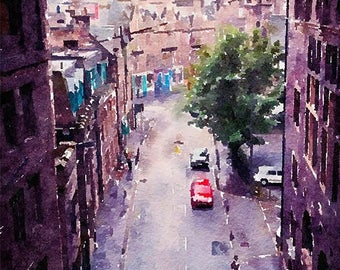 Cowgate Edinburgh Scotland Original Watercolour Painting Q113