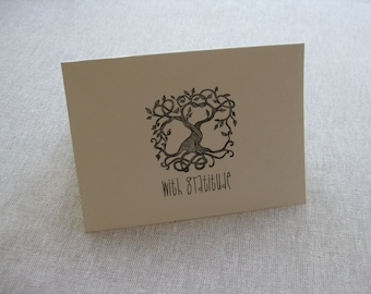 6 Handmade Tree of Life blank notecard set