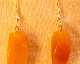 Twisted Polished Stone Earrings