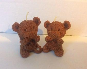 Teddy Bear candles