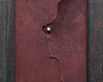 A4 Leather Journal - Kangaroo Leather (Chocolate Brown)