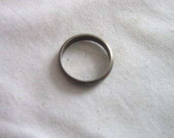 Antique Sterling Silver Edged Wedding Band
