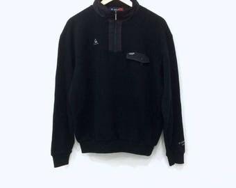 Vintage 90s LE COQ SPORTIF small logo sweatshirt black colour medium size