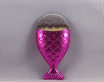 Mermaid Makeup Brush - Hot Pink