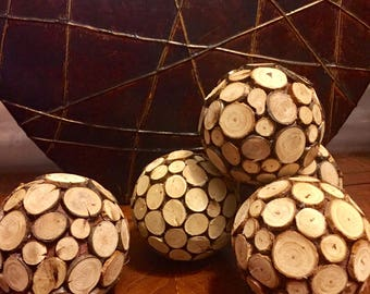 Set of five decorative balls