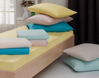 Free Shipping - 160x200 King Fitted Bed Sheet - Cotton Ranforce