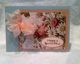 Happy Birthday Card - Handcrafted Greeting Card w/verse - Birthday Card - W/Heartfelt Messages