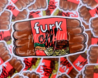 Furk off! Sticker